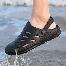 2020 New Tendy Summer Crocs Shoes Clogs Man White Black Beach Sandals Crocks Man