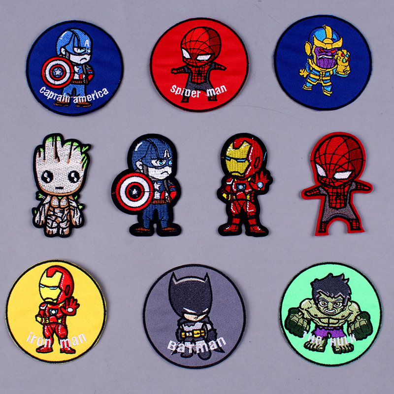 Pulaqi <font><b>Marvel</b></font> <font><b>Patch</b></font> Avengers Embroidered <font><b>Patches</b></font> <font><b>For</b></font> <font><b>Clothing</b></font> Stickers Iron-on <font><b>Clothing</b></font> <font><b>Patches</b></font> Parche <font><b>Marvel</b></font> Applique Stripe F image