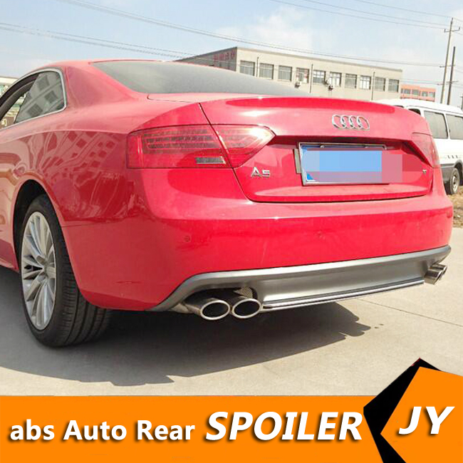 For Audi A5 S5 Body kit spoiler 2012 2016 For Audi A5 PT ABS Rear lip rear spoiler front Bumper Diffuser Bumpers Protector
