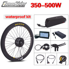 Kit de motorisation de vélo électrique avec batterie Hailong étanche, avec moteur MXUS intégré dans la roue, 500 W, 36V et 48V