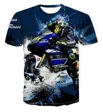 Camisetas con estampado de motocicleta para hombre, mujer, niño y niña, estilo de calle, transpirable, fibra de Poliéster elástico, 100-6xl talla grande, novedad de 2021