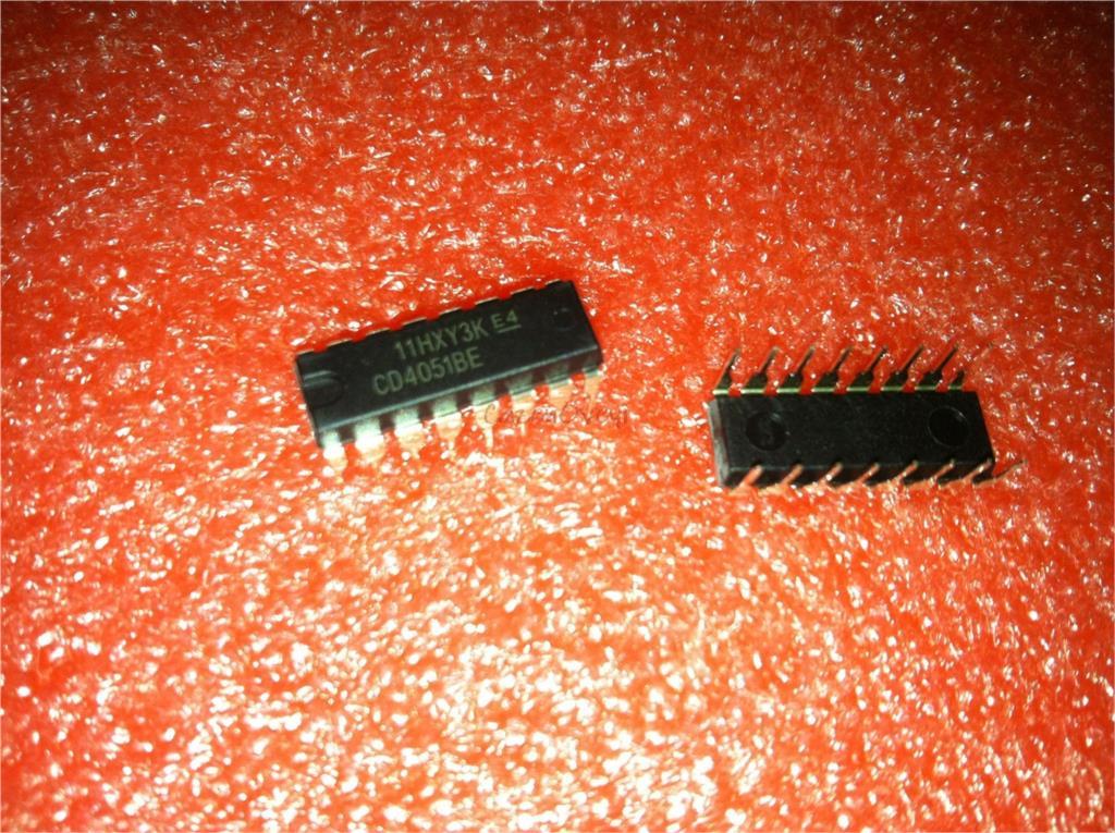 10pcs/lot CD4051BE CD4051 DIP-16 New Original In Stock