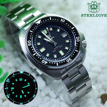 Steeldive Pro Diver Watch 200M Waterproof NH35 Automatic Men Sapphire Crystal Stainless Steel Luxury Mechanical Dive - discount item  52% OFF Men's Watches