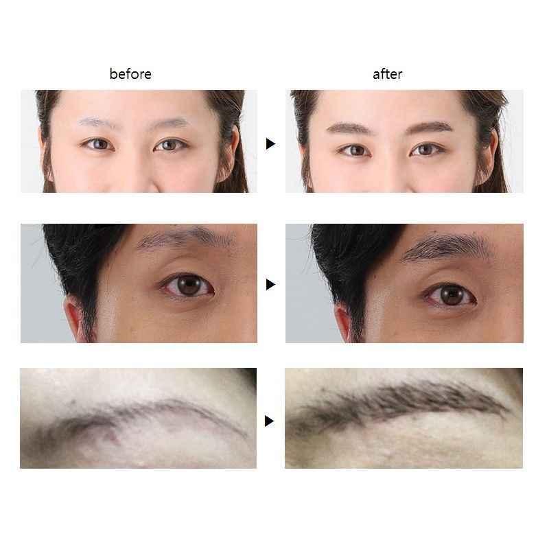 Profesional 3D Hitam Mata Broweyebrow Gel 2 Warna Alis Penambah Alis Enhancer Warna Makeup Alis Coklat TSLM1