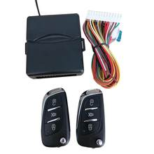 Universal Car Door Lock Remote Central Kit Auto Keyless Entry System Start Stop LED Keychain Central Kit Door Lock(China)