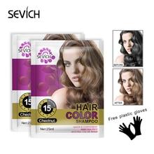 Sevich, 25 мл, практичный воск для окрашивания волос, одноразовый лосьон для окрашивания волос, сделай сам, для укладки волос, окрашивающий шампунь, принадлежности для волос TSLM2