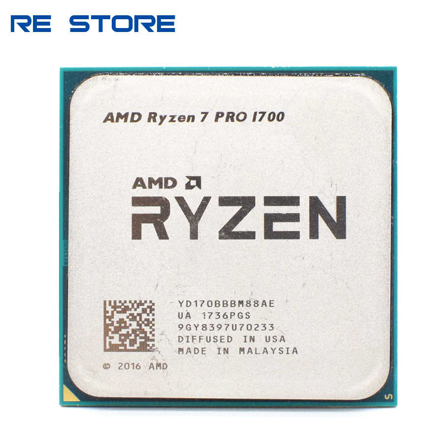 AMD Ryzen 7 PRO 1700 R7 PRO 1700 3.0GHz Sedici-Thread di CPU Processore a Otto Core 65W YD170BBBM88AE Presa AM4