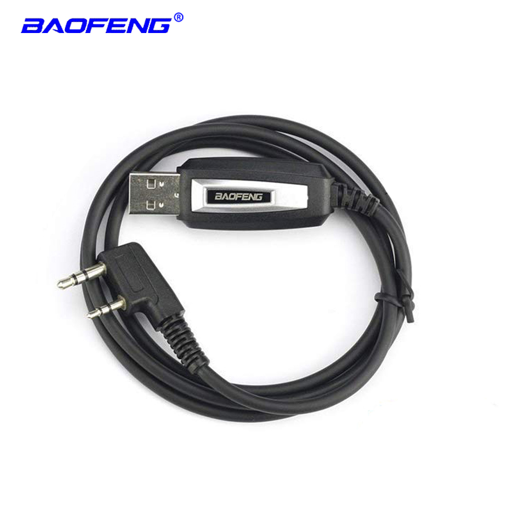 Baofeng USB programming cable for two way radio UV 5R UV 6R UV 82HP UV S9 GT 3TP BF 888S RT 5R walkie talkie USB program cable in Walkie Talkie from Cellphones Telecommunications