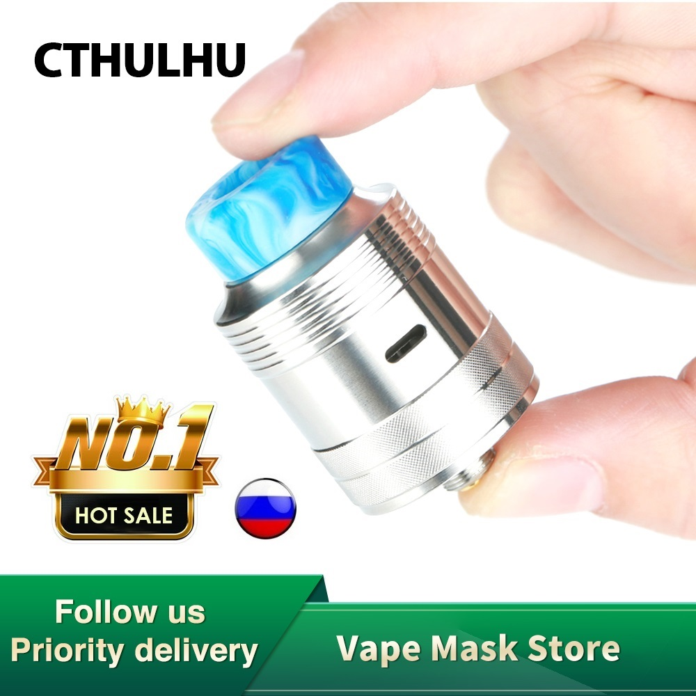 Original Cthulhu Mjolnir RDA 24mm Diameter Single Coil Tank With Double Chamber & BF Pin Fit Squonker MOD Vape Vs Cthulhu 1928