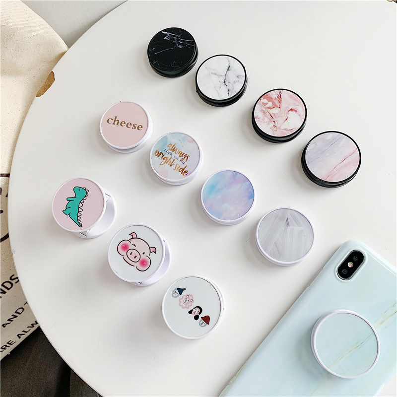 Cute Cartoon Folding Stand For Mobile Phone Holder For IPhone 11 X 8 7 6 Plus IPAD For Samsung For Huawei Phone Grip Kichstand