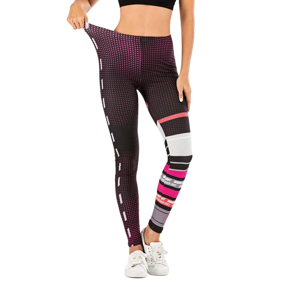Women Fashion Legging Dots Stitching Printing Fitness Leggins Slim Sexy Legins High Waist Leggings Woman Pants