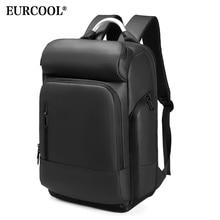 """EURCOOL 15.6 """"מחשב נייד תרמיל שחור עסקי זכר המוצ ילה USB טעינה פונקציונלי תרמיל עמיד למים נסיעות תרמיל גברים n1877"""