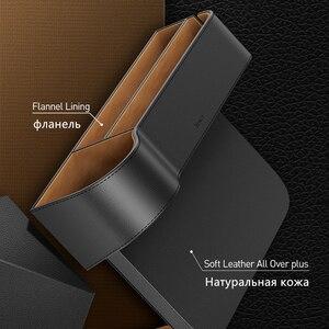 Image 4 - Baseus普遍的な革車オーガナイザーオートシートギャップフィラー収納ボックスポケットオーガナイザー財布タバコ電話ホルダー
