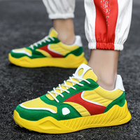Different Colors Men Designer Sneakers Lace Up Adult Casual Shoes Fashion Youth Walking Sneakers Rubber Bottoms Casual Shoes Man