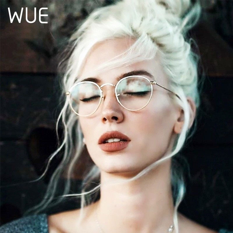 Okulary komputerowe okulary chroniące przed promieniowaniem niebieskim niebieskie światło okulary blokujące optyczne spektakl blokujący UV do gier filtr okrągłe okulary