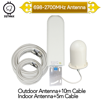 ZQTMAX 2g 3g 4g Onmi antenna for Cell Phone Cellular Signal Amplifier 900 1800 2100 2600 umts lte repeater gsm+cable