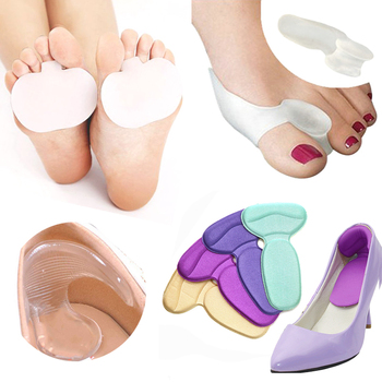 1/2/3Pair Bunion Corrector Silicone High Heel Shoe Pad Forefoot Insoles Toe Separator Straightener Thumb Adjuster Foot Care Tool