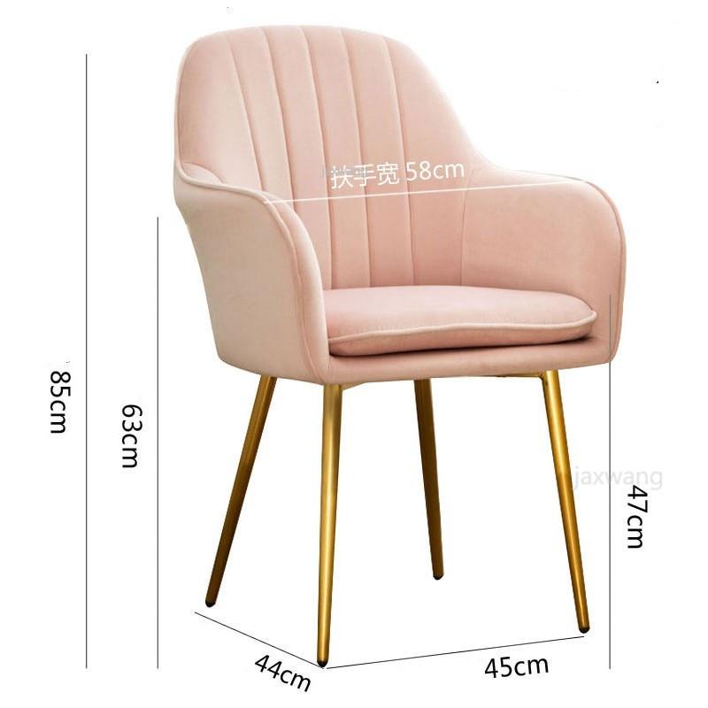 INS Modern Dining Chair Chairs Leisure Chair Armchair Cloth Art customized Living Room Furniture Decoration sofa Salon