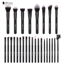 DUcare 27PCS Makeup Brushes Powder Foundation Eyeshadow Make Up Set Cosmetic with Bag Soft Synthetic Goat Hair