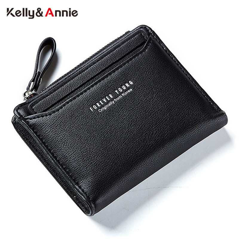 Individual ID Card Holder Wallet Women Leather Zipper Coin Purse Ladies Purses Forever Young Designer Female Wallet Carteira