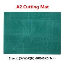 Коврик для резки из ПВХ A2, 3 мм, с двойной печатью, самоисцеляющий коврик для резки, крафтовый Квилтинг, скрапбукинг, 45x60 см
