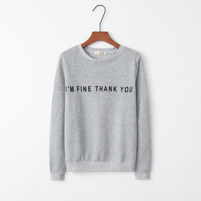 Fine Letter Print 2020 New Design Hot Sale Hoodies Sweatshirts Women Casual Kawaii Harajuku Sweat Girls European Tops Korean