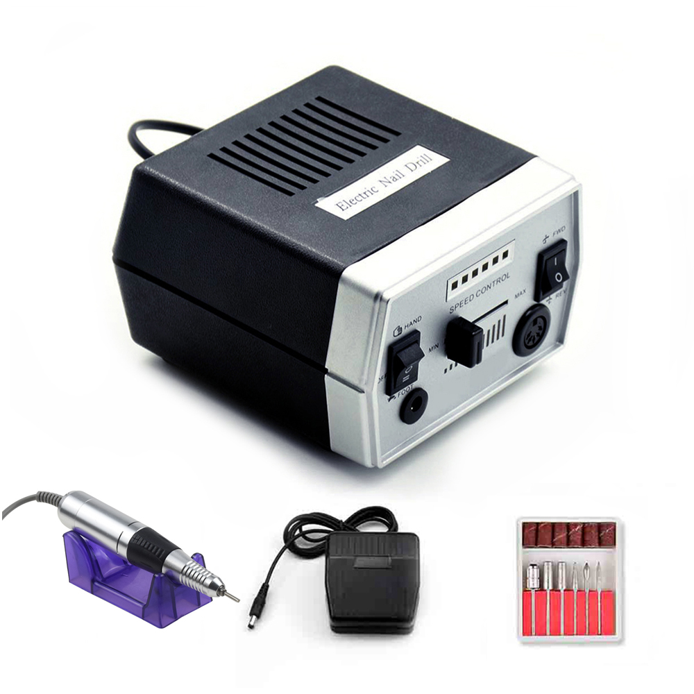 35000/20000RPM Electric Nail Drill Machine Manicure Pedicure Machine 6 Milling Cutters Accessories Nail Files Manicure Tool Kits