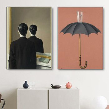 Rene Magritte Surrealism Wall Art Paintings Printed on Canvas 3