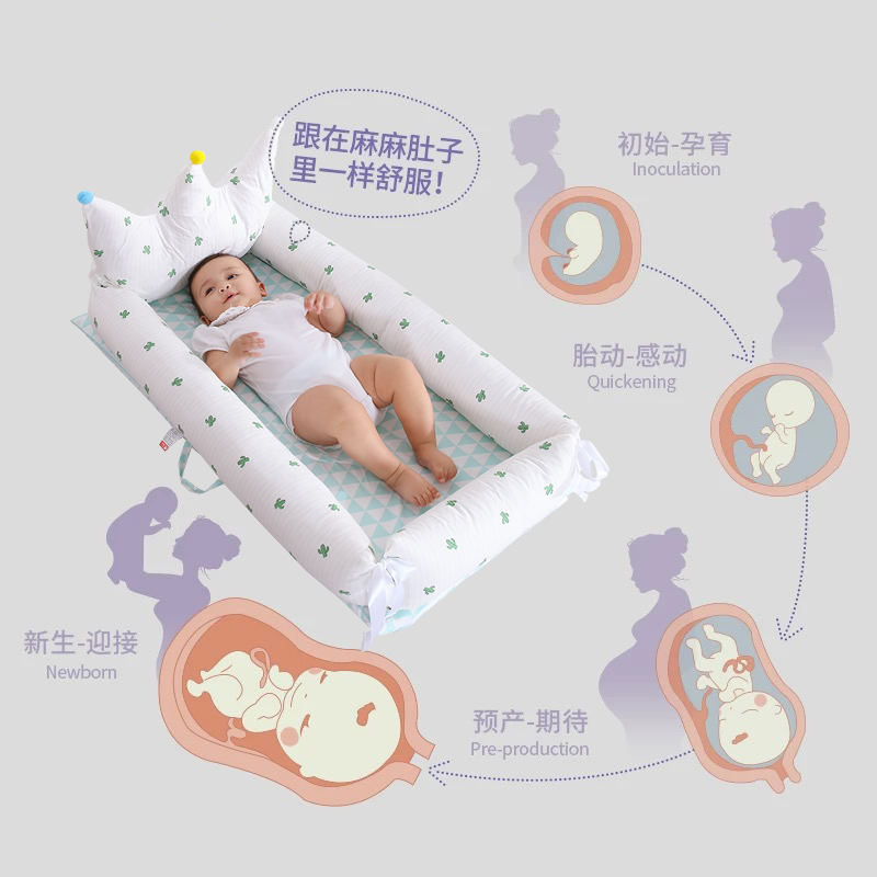 Baby Bed In Baby Bed Baby Sleeping Pressure-proof Artifact Bed Portable Separator Bed Neonatal Bionic Bed