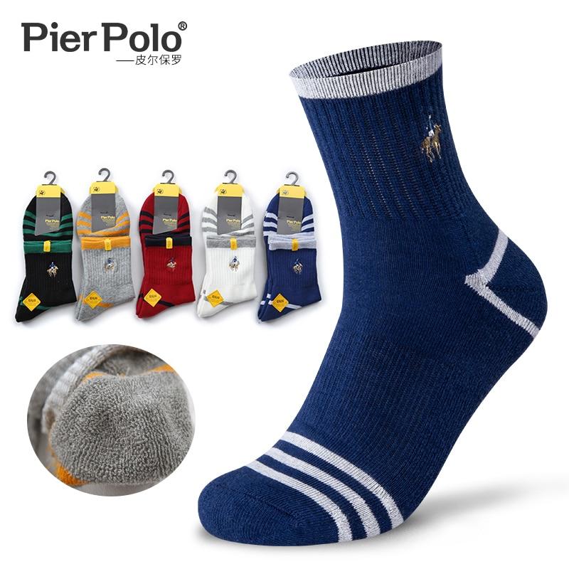 2019 бренд PIER POLO Толстые мужские шерстяные носки хлопок полотенце теплые носки для зимы мужские толстые теплые зимние носки бархат шелк