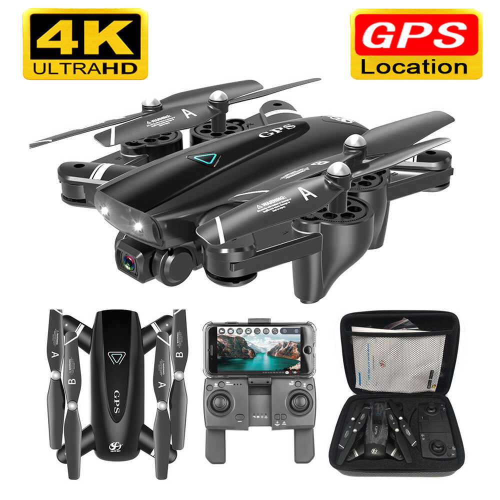 S167 GPS Drone dengan Kamera 5G RC Drone Quadcopter HD 4K WIFI FPV Lipat Off-Titik Terbang foto Video Drone Helikopter Mainan