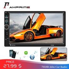 "AMPrime 7018B Autoradio 2din カーラジオマルチメディア MP5 プレーヤー 7 ""オートステレオ Bluetooth 2Din 自動 Mirrorlink TF/USB /FM とカメラ"