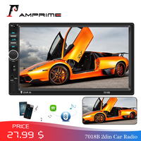 AMPrime 7018B Autoradio 2din Car Radio Multimedia MP5 Player 7 Auto Stereo Bluetooth 2Din Auto Mirrorlink TF/USB/FM With camera
