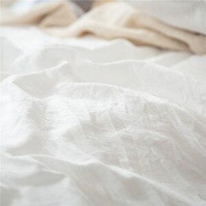 Image 5 - 2/3 Pz/set Bianco Con Frange Nappa Duvet Cover Set Poliestere Trapunte Formati NESSUN FOGLIO di Set di Biancheria Da Letto DEGLI STATI UNITI UE