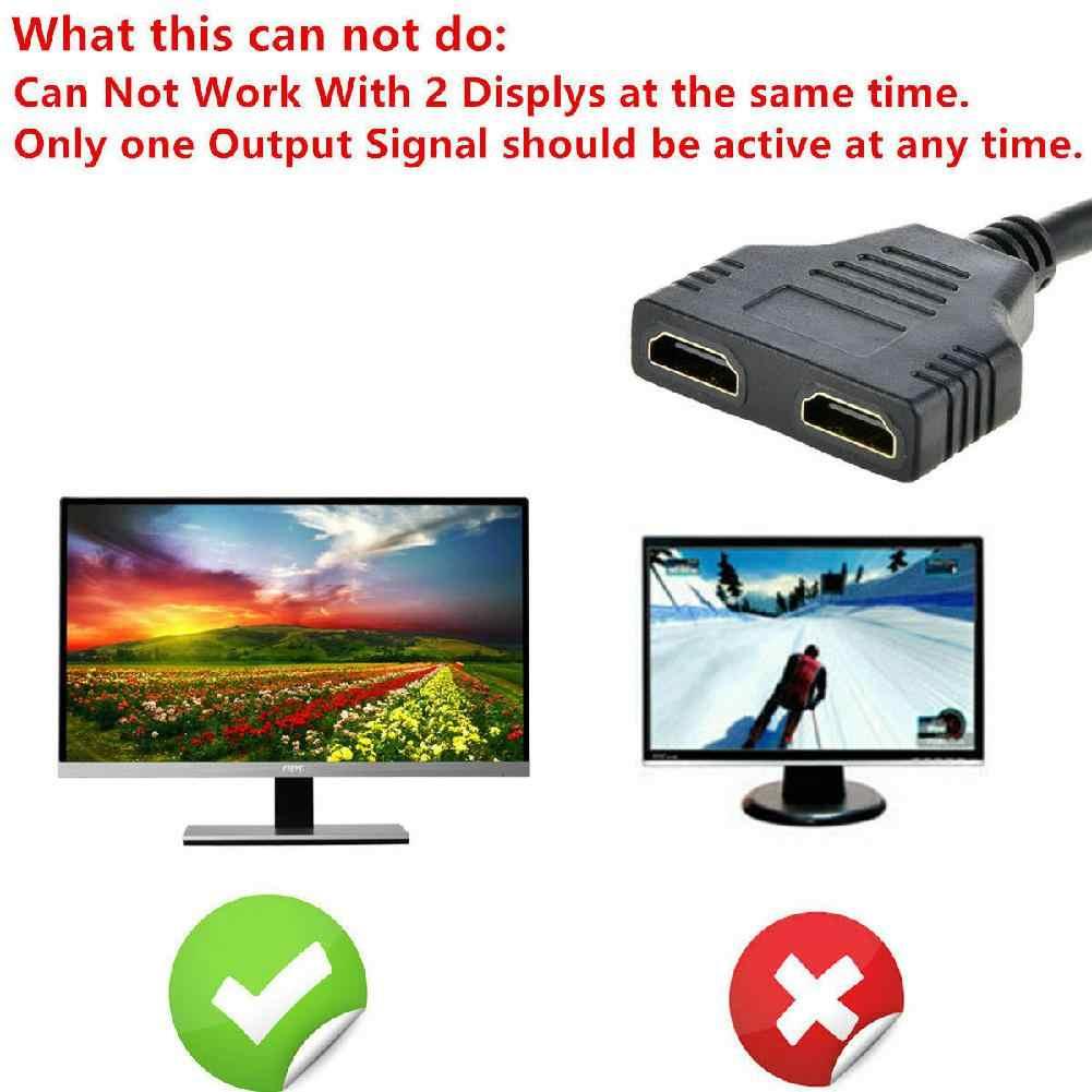 Beesالبرسيم 1080P مقسم الوصلات البينية متعددة الوسائط وعالية الوضوح (HDMI) ذكر إلى أنثى مهائي كابلات محول HDTV 1 المدخلات 2 الناتج 2-port HDMI التبديل r20