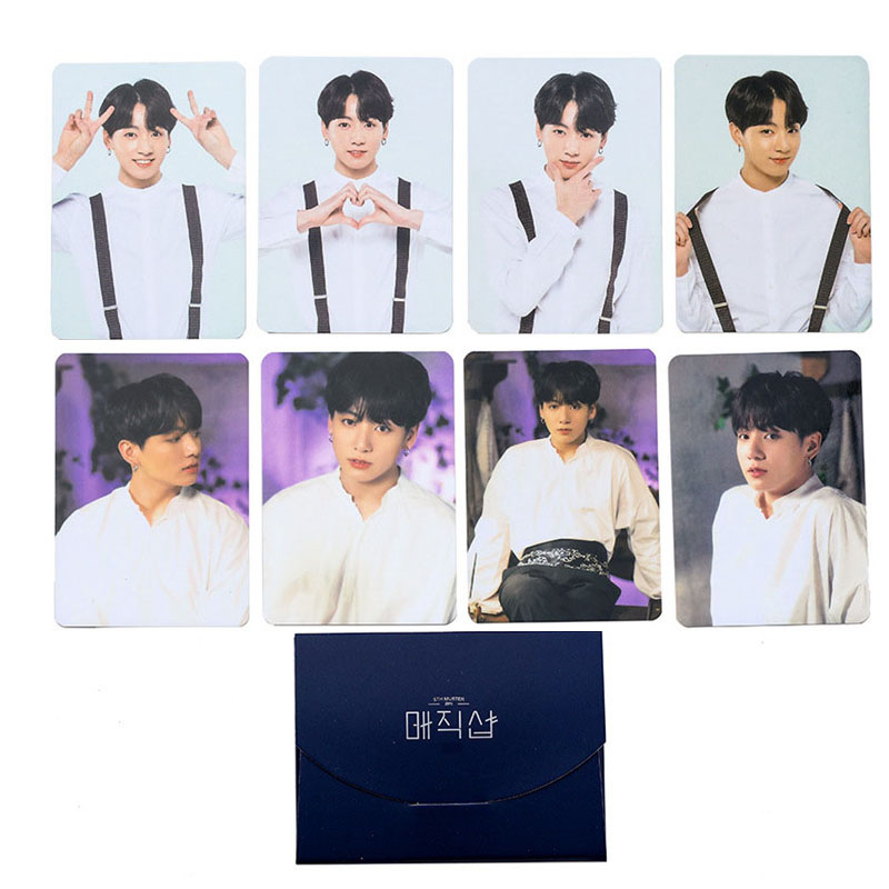 Bangtan Boys Map Of The Soul Persona Boys With Luv Fake Love LOMO Card Photobook Love Yourself JIMIN JIN SUGA JUNG KOOK