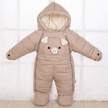 Зимняя одежда для маленьких мальчиков флисовый теплый комбинезон для новорожденных девочек детский зимний комбинезон унисекс комбинезон