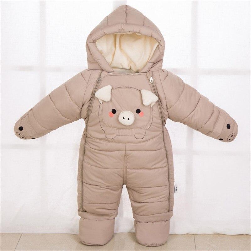 famuka Baby Snowsuit Boy Girl Romper Jumpsuit Winter Cartoon Clothes