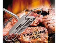 Carimbo de assinatura para churrasco  ferramenta de assinatura para marcação de nome  carnes  hambúrguer 55 x letras e 8 espaços