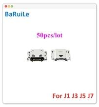 Baruile 50 個 usb 充電コネクタドックポートサムスン J3 J5 J7 J1 J100 J120 J300 J320 J500 J700 マイクロ充電器ソケットプラグ
