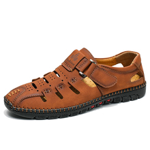 Tamanho grande 38 48 moda masculina sandálias de praia verão respirável sapatos de caminhada casuais ao ar livre masculino zapatos de hombre