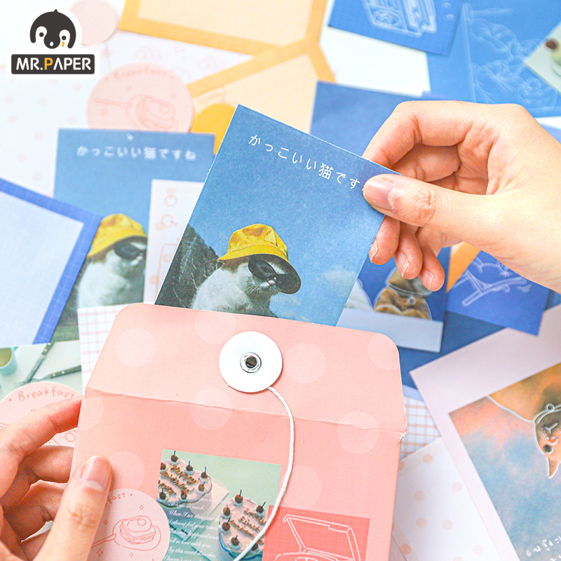 Mr.paper 4 Designs 120Pcs Japanese Songlist Famous Movie Stickers Scrapbooking Bullet Journal Popular Deco Stationery Stickers