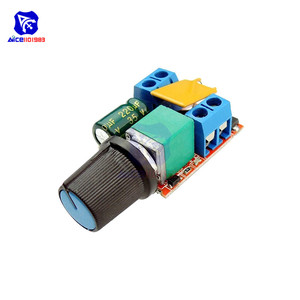 diymore Mini PWM DC Motor Speed Controller Module 3 -35V 5A Max 90W Speed Control Adjustable Potentiometer Switch LED Dimmer