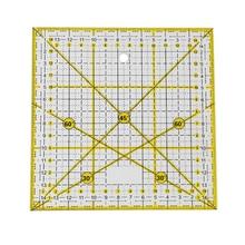 Diyミシンパッチワーク足整列定規ダブル色のグリッドライン切断テーラー測定ルールdiyの縫製ツール