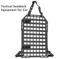 Tactical Auto Sedile Posteriore Dell'organizzatore Inserto del Pannello Veicolo MOLLE Schienale Attrezzature PP Bordo per Airsoft Paintball Caccia Tiro