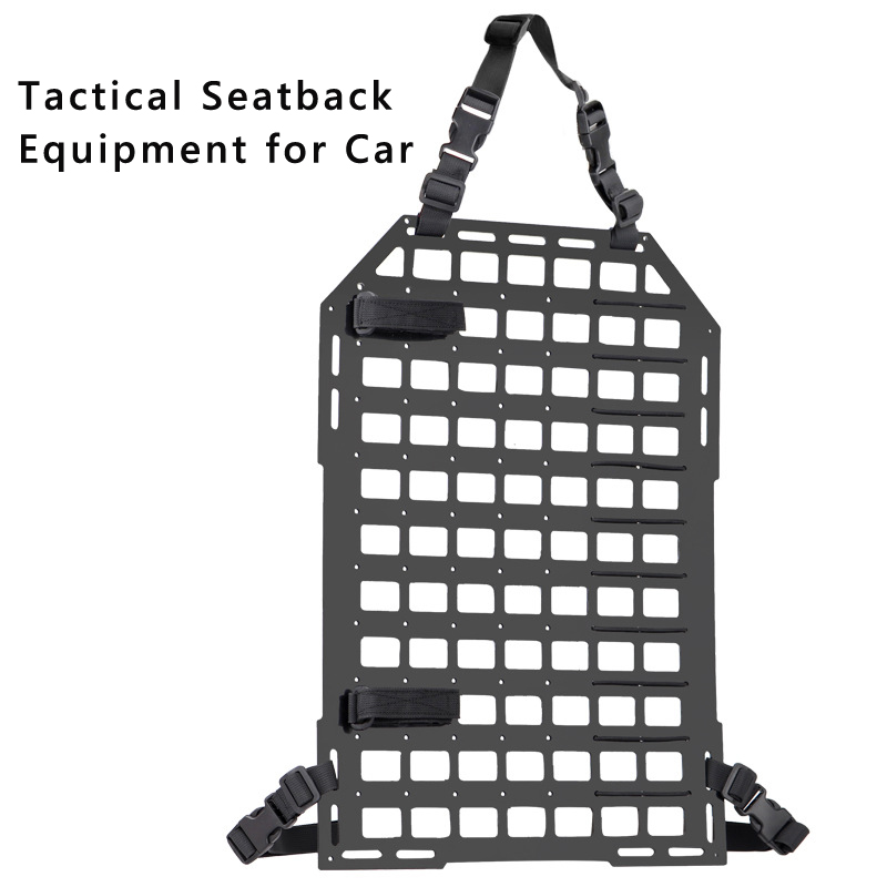 Tactical Car Seat Back Organizer Insert Panel Vehicle MOLLE Seatback Equipment PP Board For Airsoft Paintball Shooting Hunting