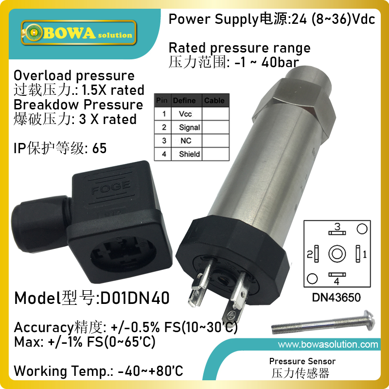 1 to 40bar pressure sensors is used in fan motors and frequency inverters of refrigeration  heat pump and air conditioners|condensate pump|pump condensate|transmitter pressure - title=