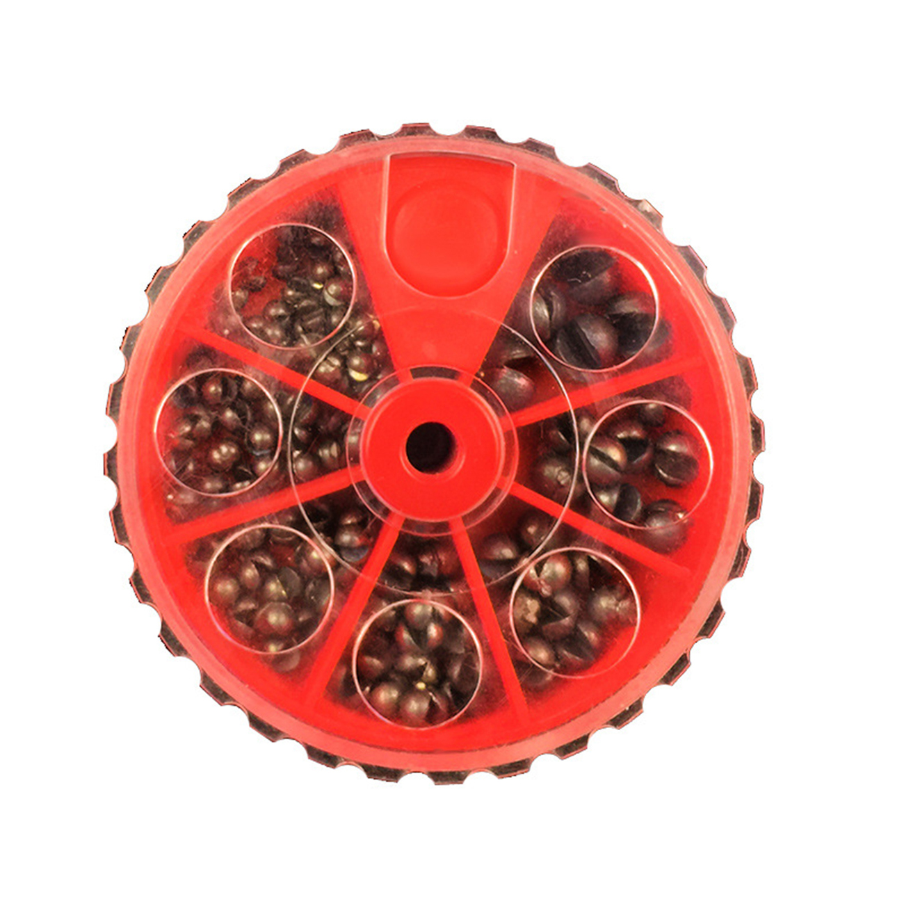 Details about  /100Pcs fishing solid circular split shot lead sinker fishing lure accessoriesSED