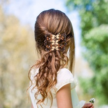 6Pcs/set African Elastic Beads Hair Clip Hair Comb Magic