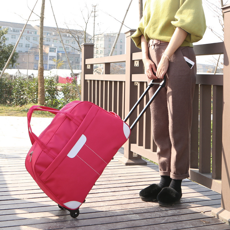 Manufacturers Direct Selling Korean-style Ultra Large Capacity Oxford Cloth Trolley Bag Handheld Traveling Bag Women's Boarding